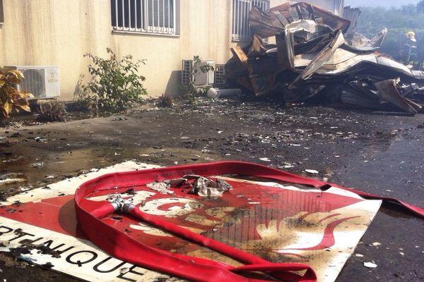 Incendie entrepôt AGS (Place d'Armes)