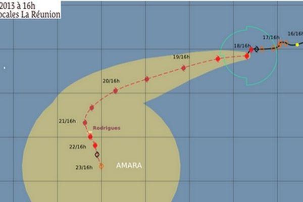 Le cyclone Amara est à 1645 km de La réunion