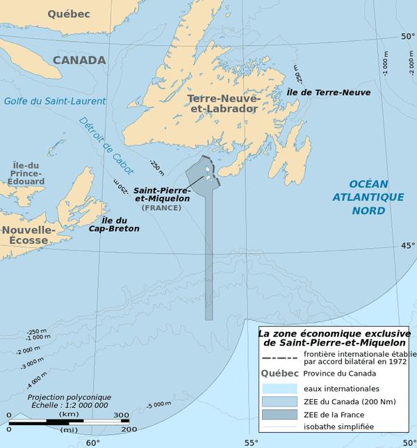 ZEE de Saint-Pierre-et-Miquelon décidée en 1992