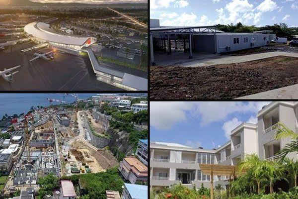 Aéroport, écoles, lycée Schoelcher, hôtel Diamant