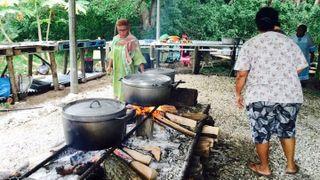 Pentecôte à Tibarama, cuisines