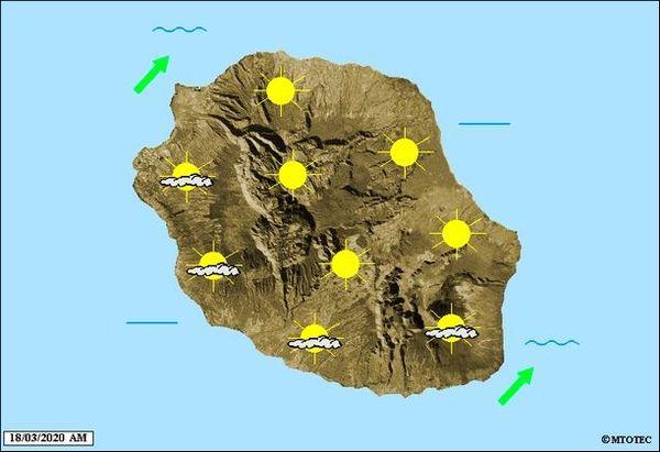 Carte météo 18 mars 2020