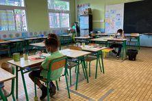Rentrée à Boulouparis à l'école primaire Daniel Mathieu.