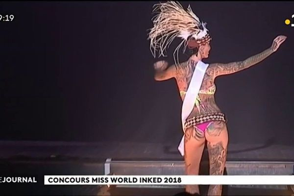 Estelle Anania en route pour Miss world inked