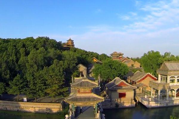 Chine vue du drone