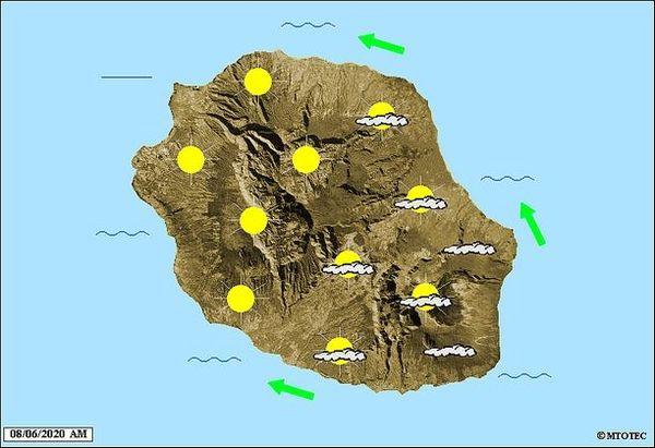 Carte météo 8 juin 2020