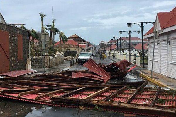 Saint-Barthélémy après le passage de l'ouragan Irma.