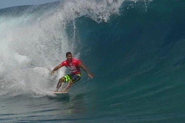 Michel Bourez lors de la 4ème et dernière journée de la Billabong Pro Tahiti 2014, 25 08 14, Teahupo'o
