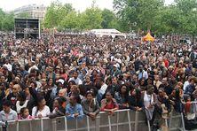 """Rassemblement lors d'un """"Limyè Ba Yo"""", place de la République à Paris (archives)."""