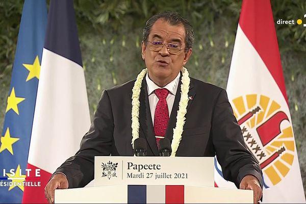 Edouard Fritch réaffirme la reconnaissance de la Polynésie