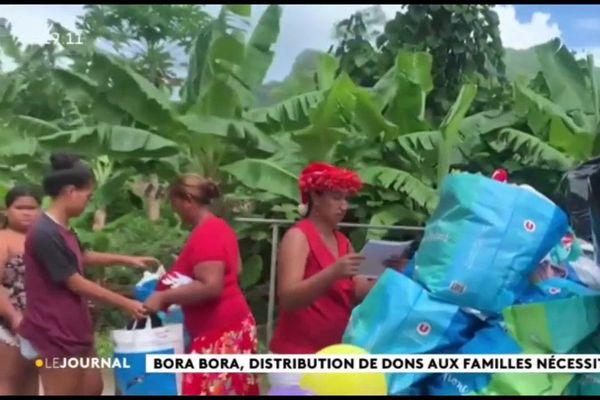Bora Bora : distribution de denrées alimentaires au profit de familles nécessiteuses