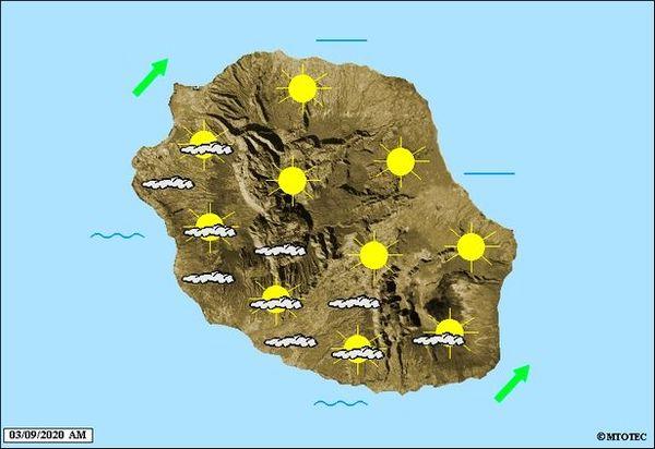 Carte météo 3 septembre 2020
