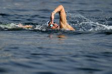 La nageuse en plein effort