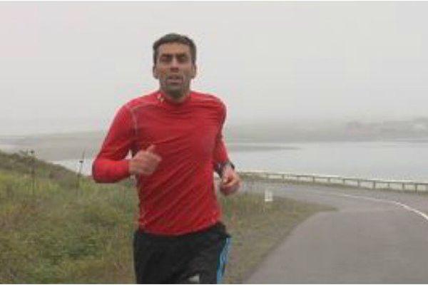 Gaël Coste, concurrent des 25 km de Miquelon