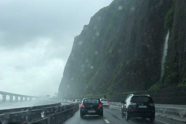 Tempête Iman route du littoral basculée 070621