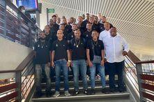 La délégation du Club Franciscain à l'aéroport Aimé Césaire avant de s'envoler pour Orly