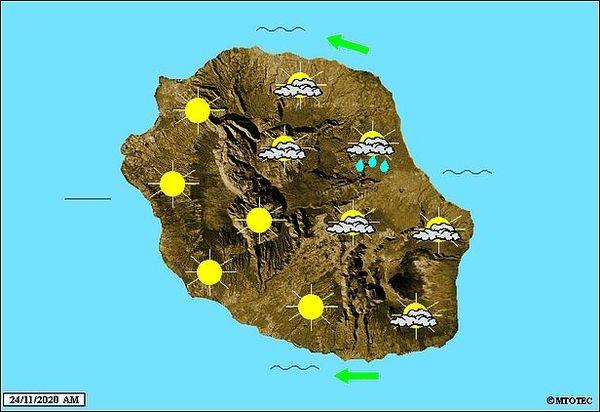 Carte météo 24 nov 2020