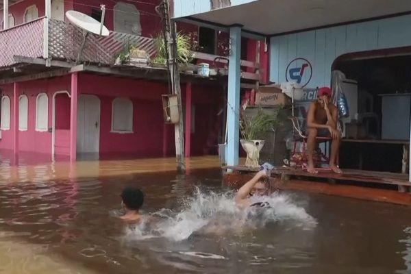 Anama inondée ville du Brésil