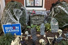 Dans le quartier de Georgetown à Washington lors d'Halloween, le 31 octobre 2020.
