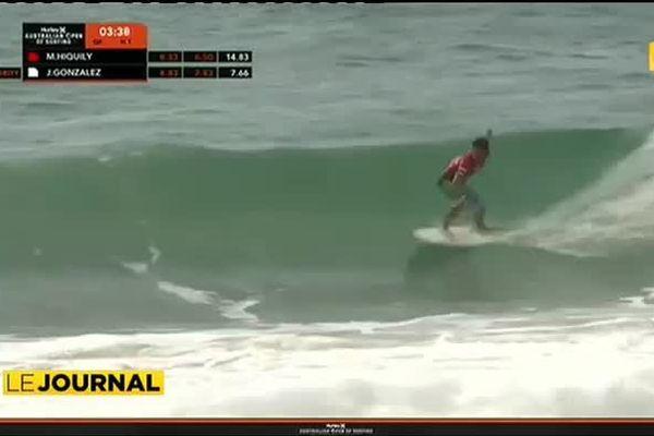 Mateia Hiquily, étoile montante du surf tahitien