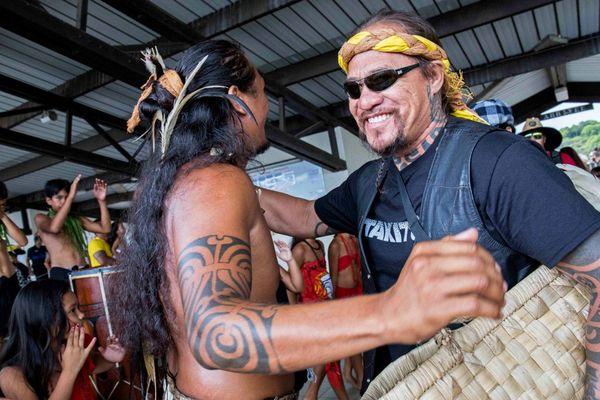 Accueil de la délégation Tiki Toa