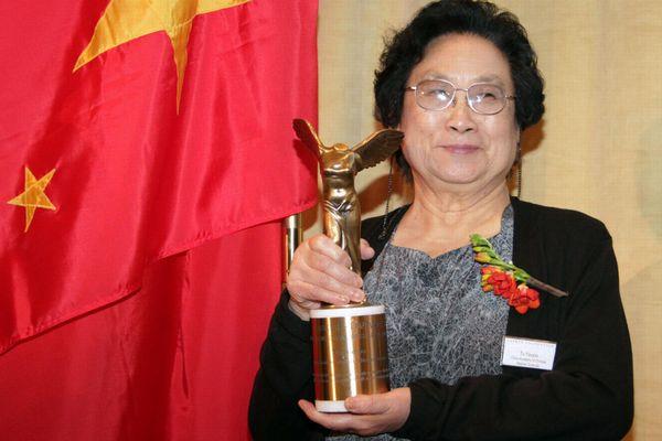 Youyou Tu, docteur en pharmacie, en 2011 lors de la remise d'un prix médical à New-York