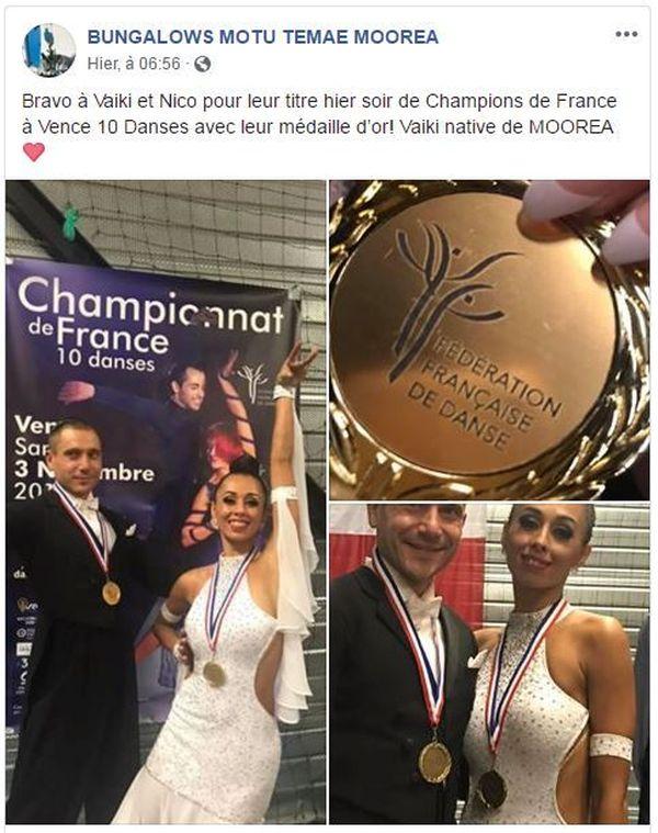 champions de France danse de salon