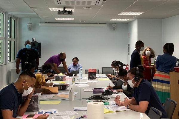 Le centre d'appel de l'ARS Guyane