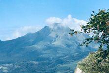 Vue sur la montagne Pelée à Saint-Pierre