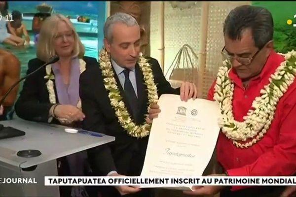 L' UNESCO officialise le classement de Taputapuatea au patrimoine mondial