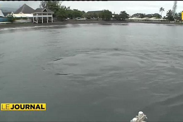 La baignade en baie de Taaone demeure interdite