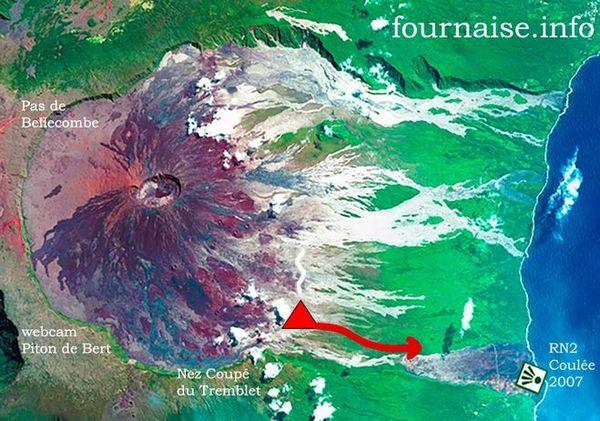Localisation de l'éruption 14 août 2019