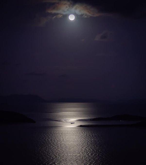 super lune le soir 26 mai
