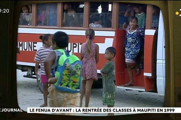 Flash back : la rentrée des classes à Maupiti en 1999