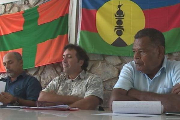 Photo conférence presse Union calédonienne Tuyienon Reignier Goa