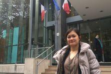 Hani Teriipaia, étudiante polynésienne à Paris, lors d'un stage au Ministère de la Santé