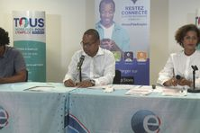 Dirigeants de Pôle emploi Martinique.
