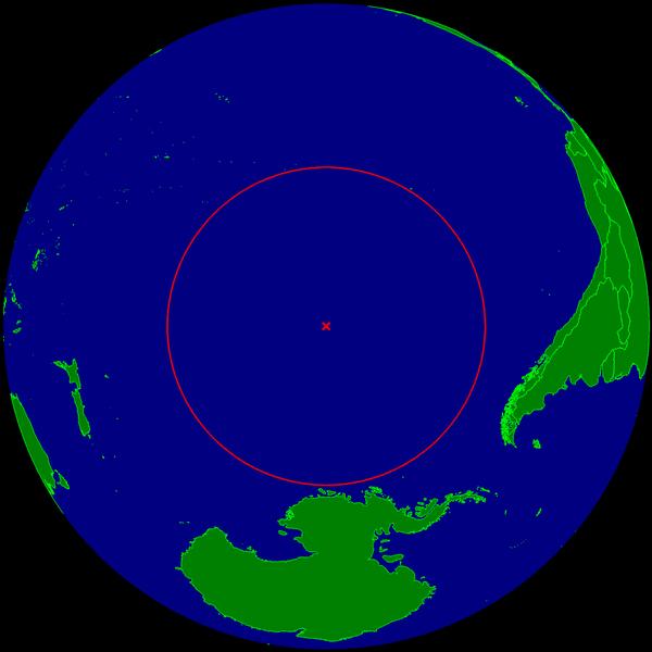 Visualisation du point Nemo