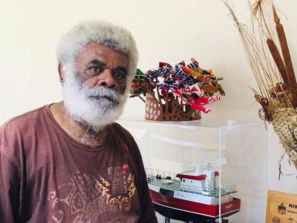 Richard Pwaraïriwa, président du conseil coutumier de l'aire Paici-Camuki.