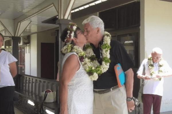 Mariage d'un couple belge à Hiva Oa