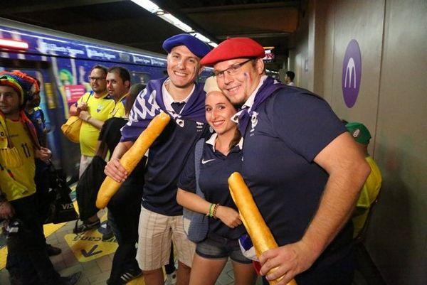 métro Maracana supporters français
