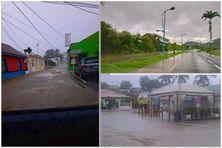 des cumuls de l'ordre de 20 mm ont amené des inondations au Marin à Sainte-Anne à Rivière-Pilote