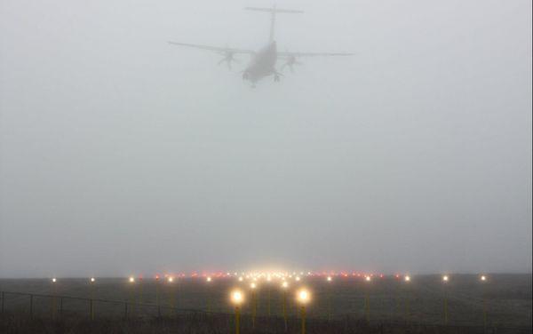 ATR SPM  dans le brouillard