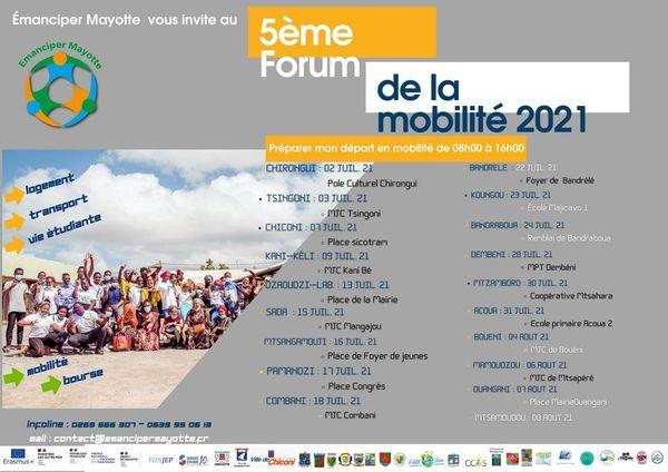 Le programme de la 5eme Edition du forum de la mobilité