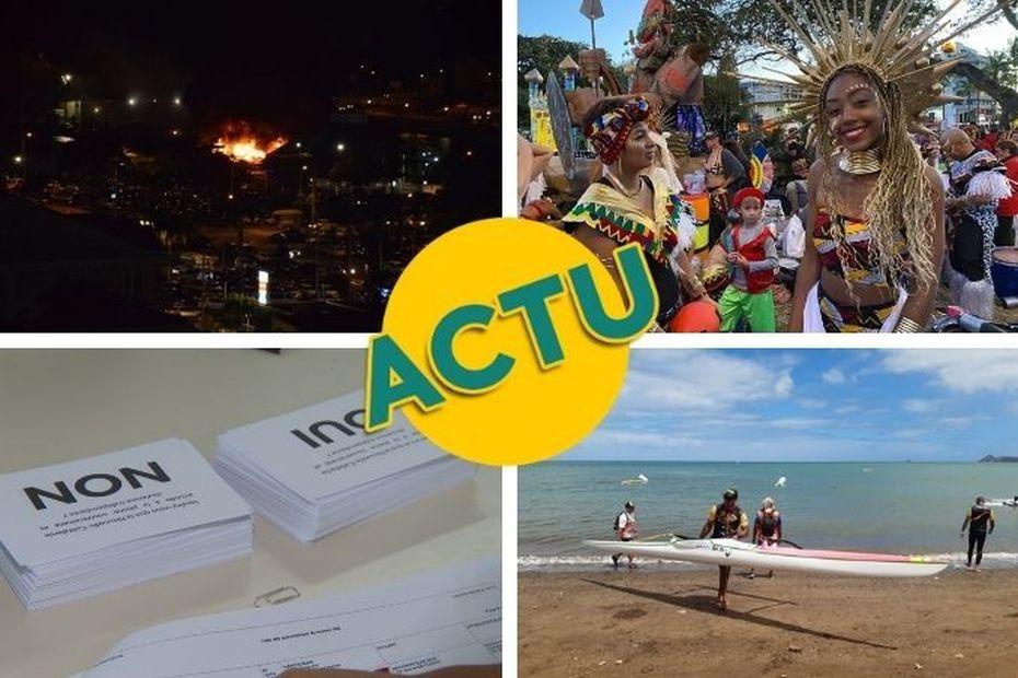 Incendie, référendum, carnaval, va'a : l'actu à la 1 du dimanche 20 septembre 2020 - Nouvelle-Calédonie la 1ère