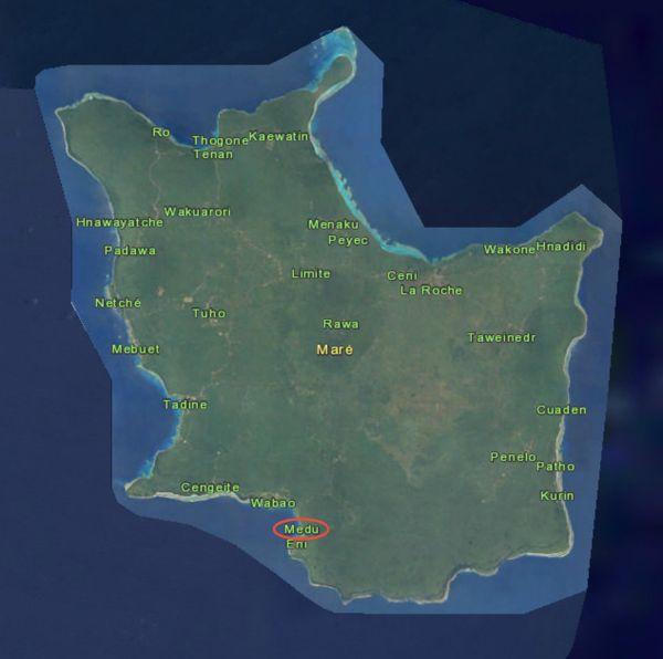 Carte de Maré avec Medu souligné