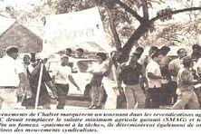 La grande grève des ouvriers agricoles de Février 1974 en Martinique.