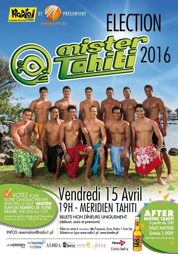 Affiche de l'élection Mister Tahiti 2016