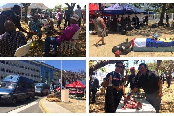 Mobilisation pompiers devant le gouvernement, 26 octobre