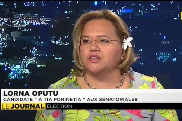 Sénatoriales : Lorna Oputu, candidate A Tia Porinetia, invitée du JT